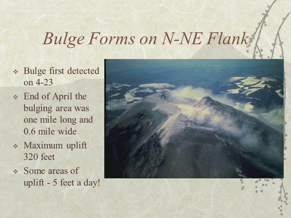 Bulge Forms on N-NE Flank