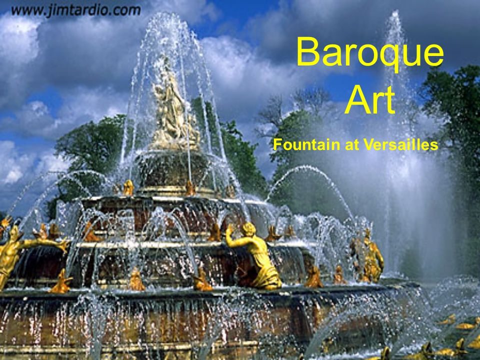 Baroque Art Fountain at Versailles