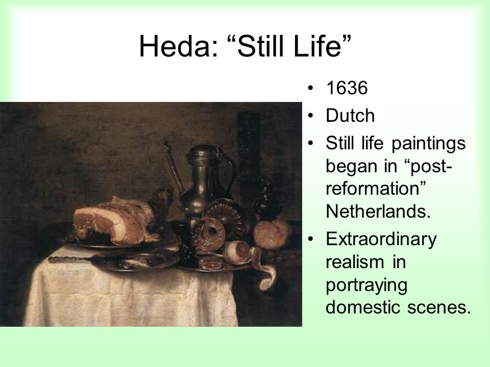 Heda: Still Life 1636 Dutch