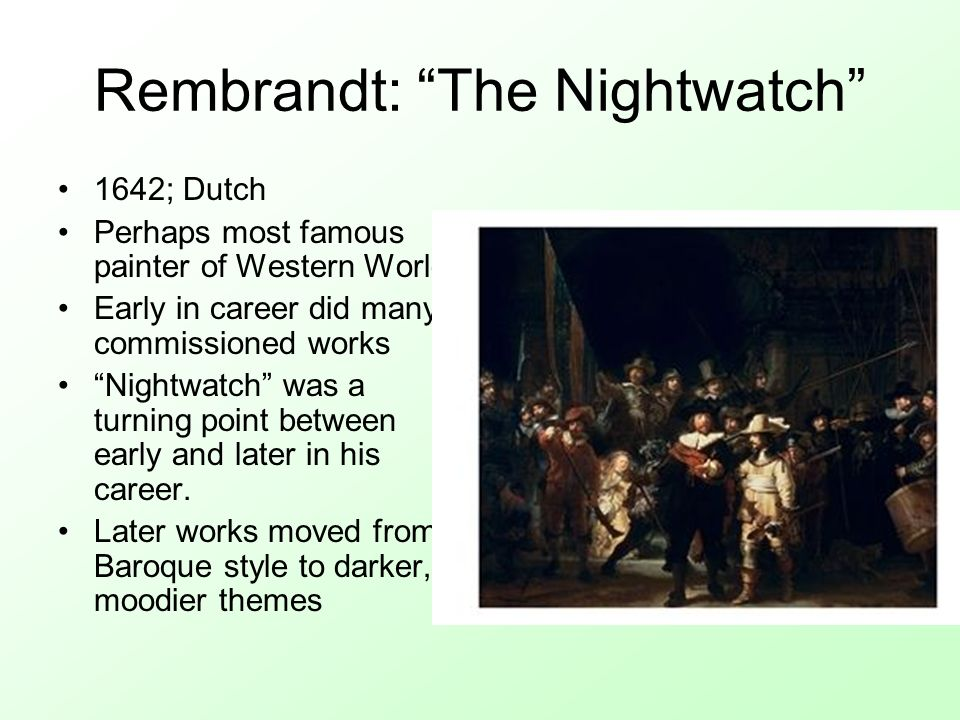Rembrandt: The Nightwatch
