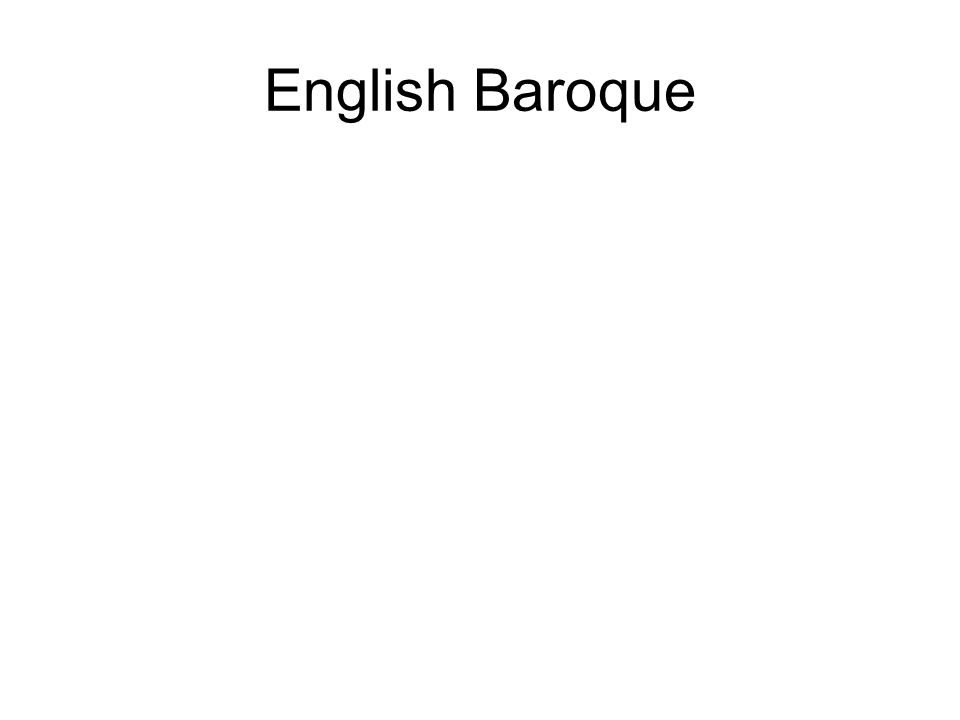 English Baroque