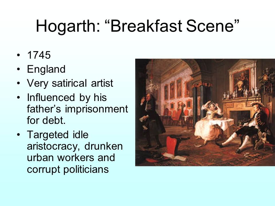 Hogarth: Breakfast Scene