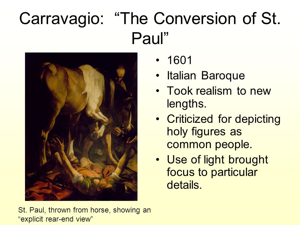 Carravagio: The Conversion of St. Paul