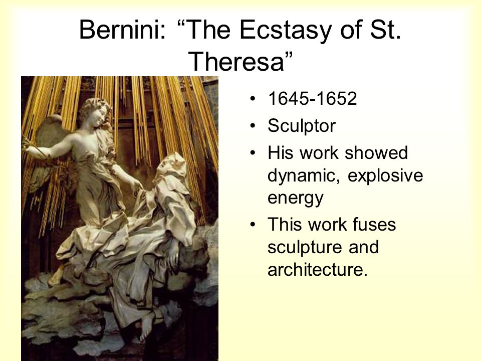 Bernini: The Ecstasy of St. Theresa