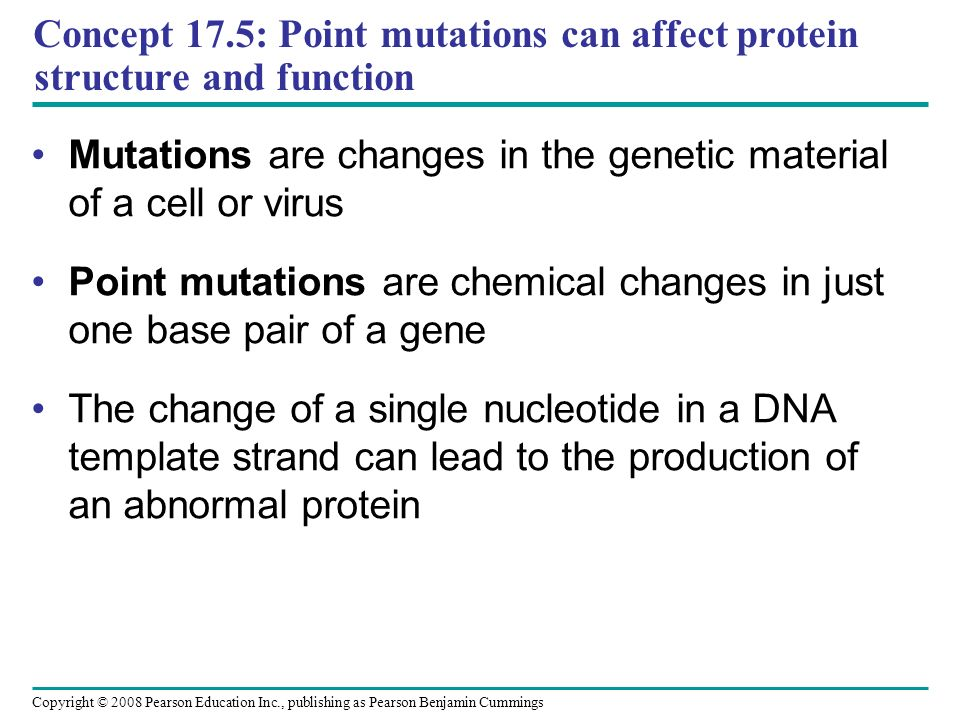 Mutations are changes in the genetic material of a cell or virus
