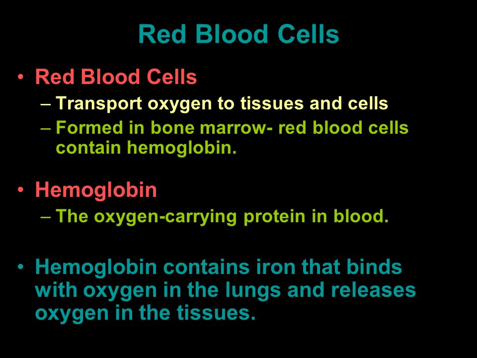 Red Blood Cells Red Blood Cells Hemoglobin
