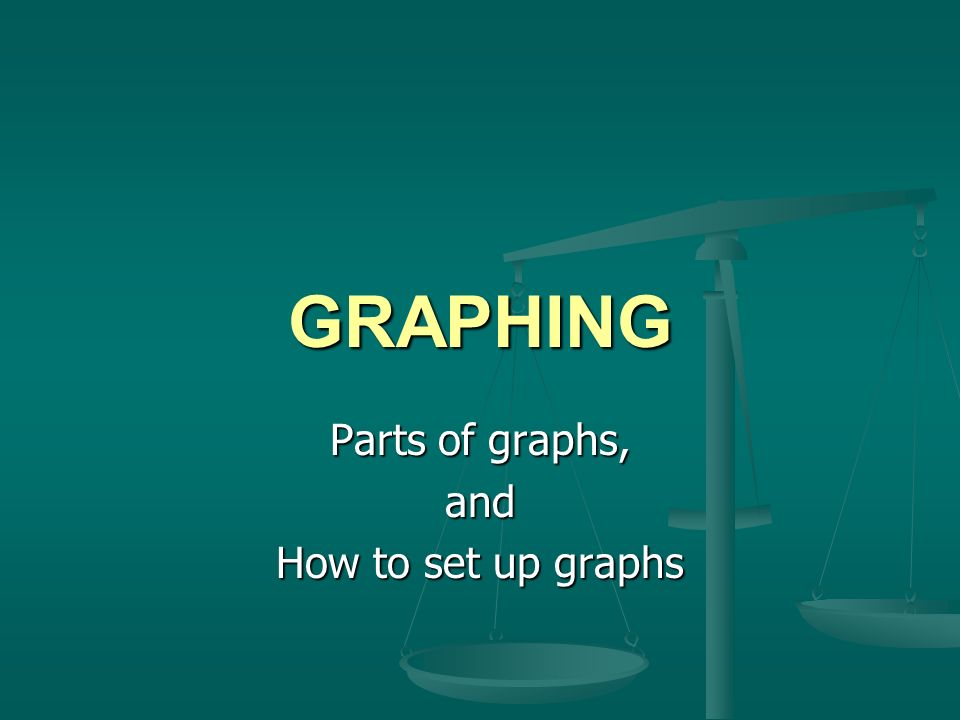 Parts of graphs, and How to set up graphs