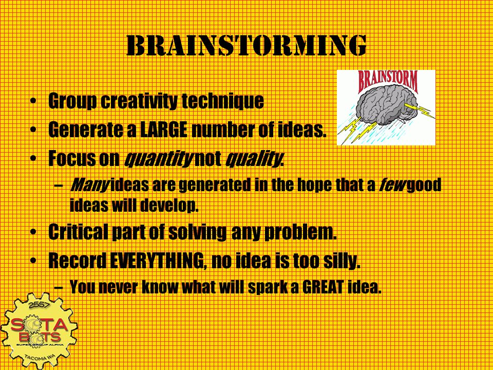Brainstorming Group creativity technique