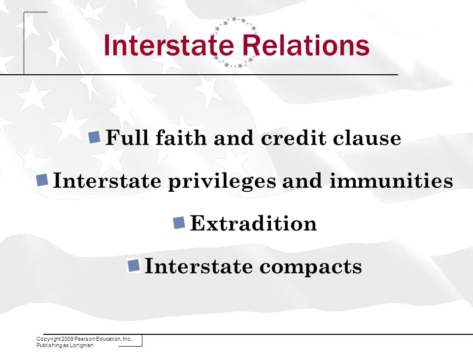 Full faith and credit clause Interstate privileges and immunities