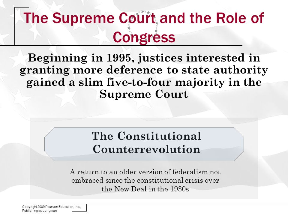 The Supreme Court and the Role of Congress