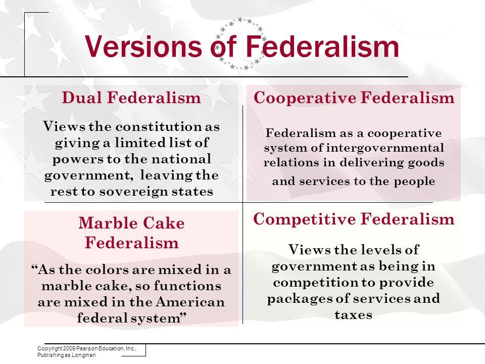 Versions of Federalism