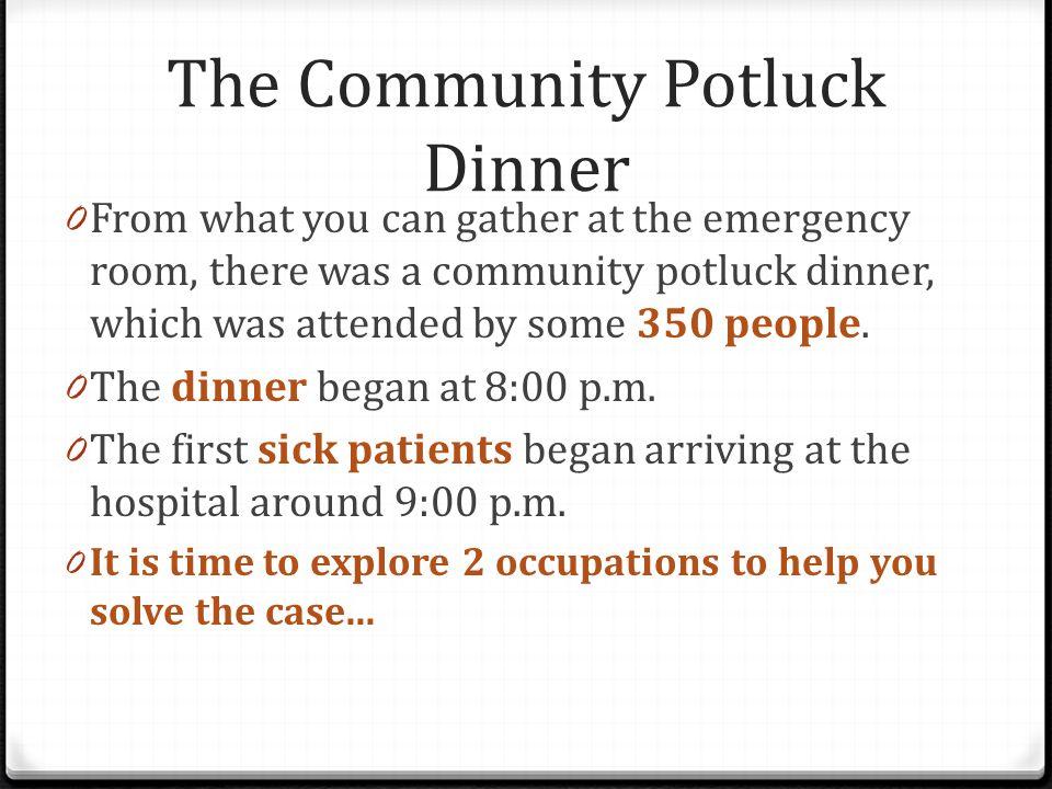 The Community Potluck Dinner