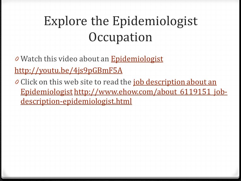 Explore the Epidemiologist Occupation