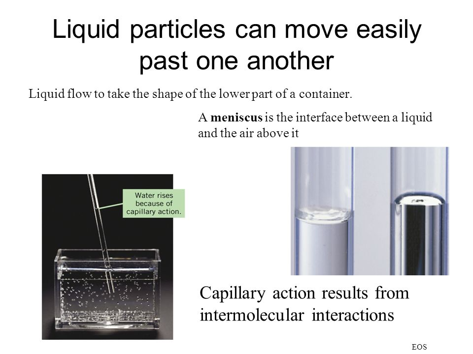 Liquid particles can move easily past one another