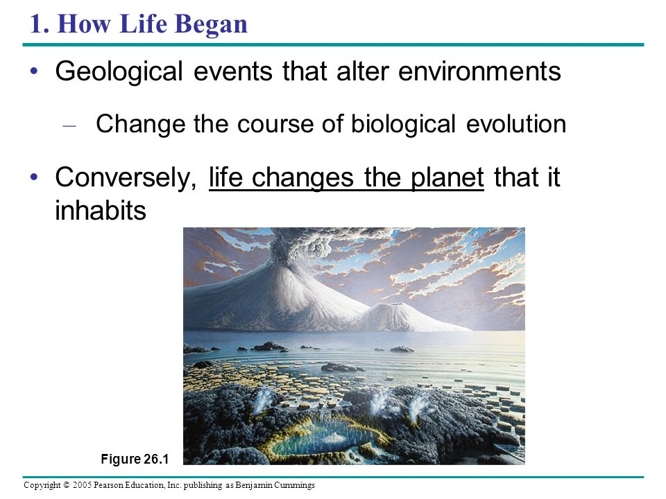Geological events that alter environments