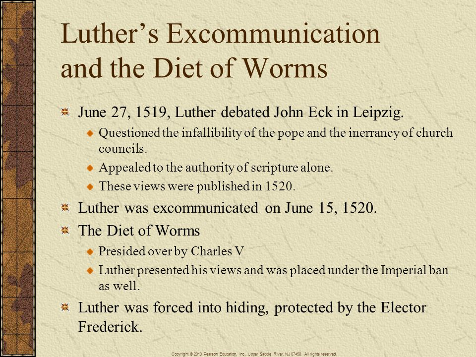 Luther's Excommunication and the Diet of Worms
