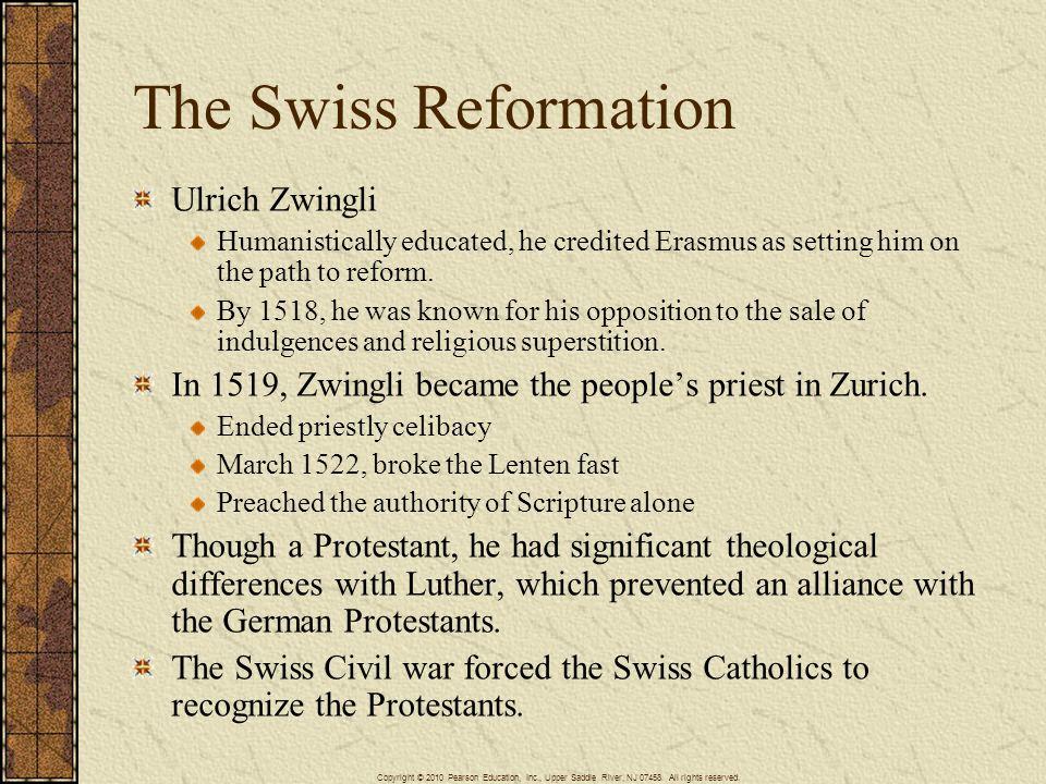 The Swiss Reformation Ulrich Zwingli