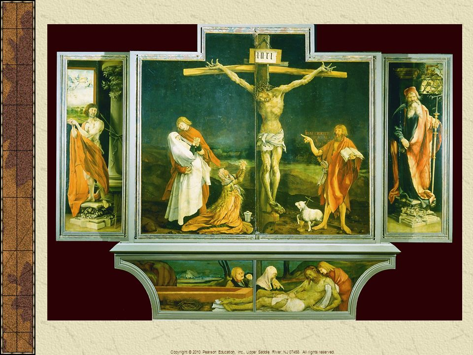 Painted on the eve of the Reformation, Matthias Grunewald's (ca