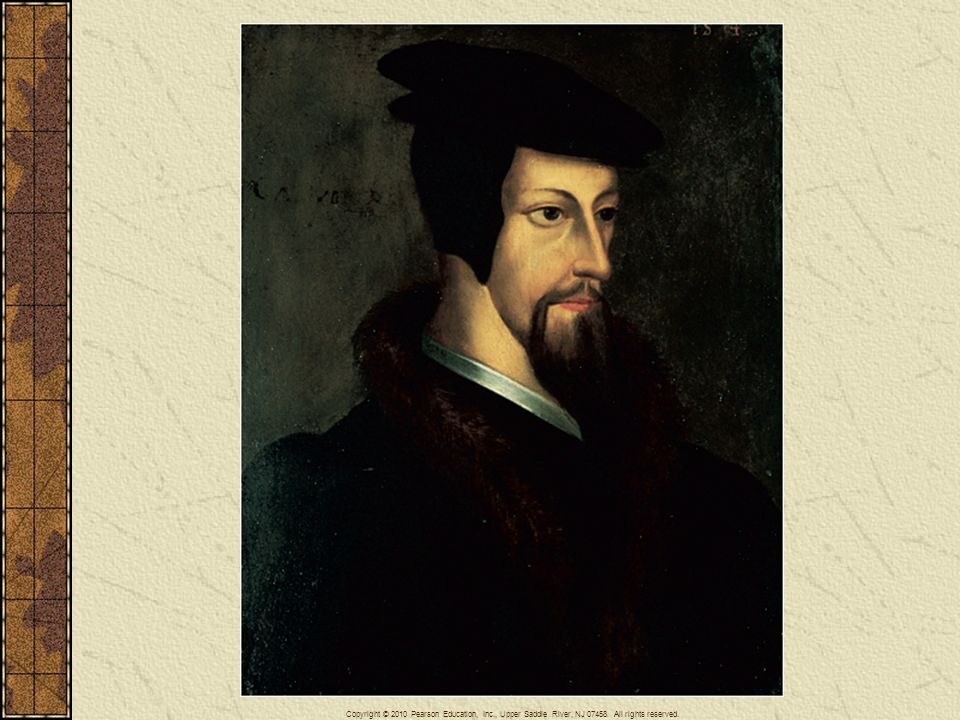 A portrait of the young John Calvin.