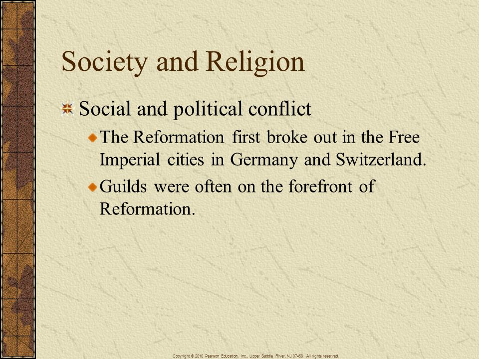 Society and Religion Social and political conflict