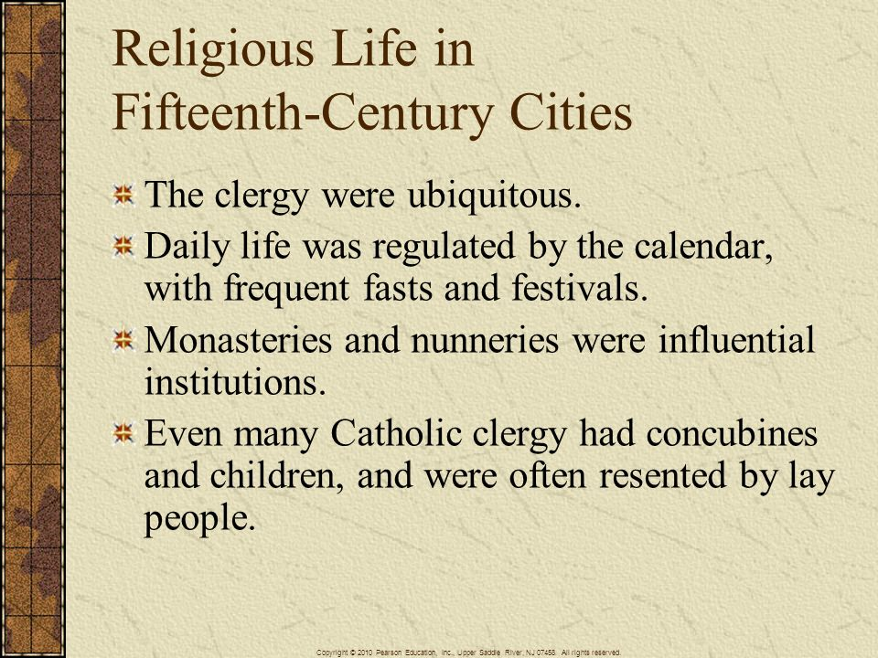 Religious Life in Fifteenth-Century Cities