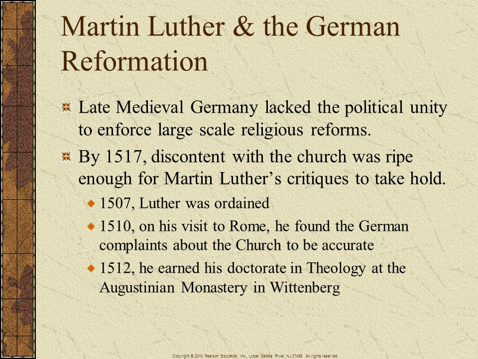 Martin Luther & the German Reformation