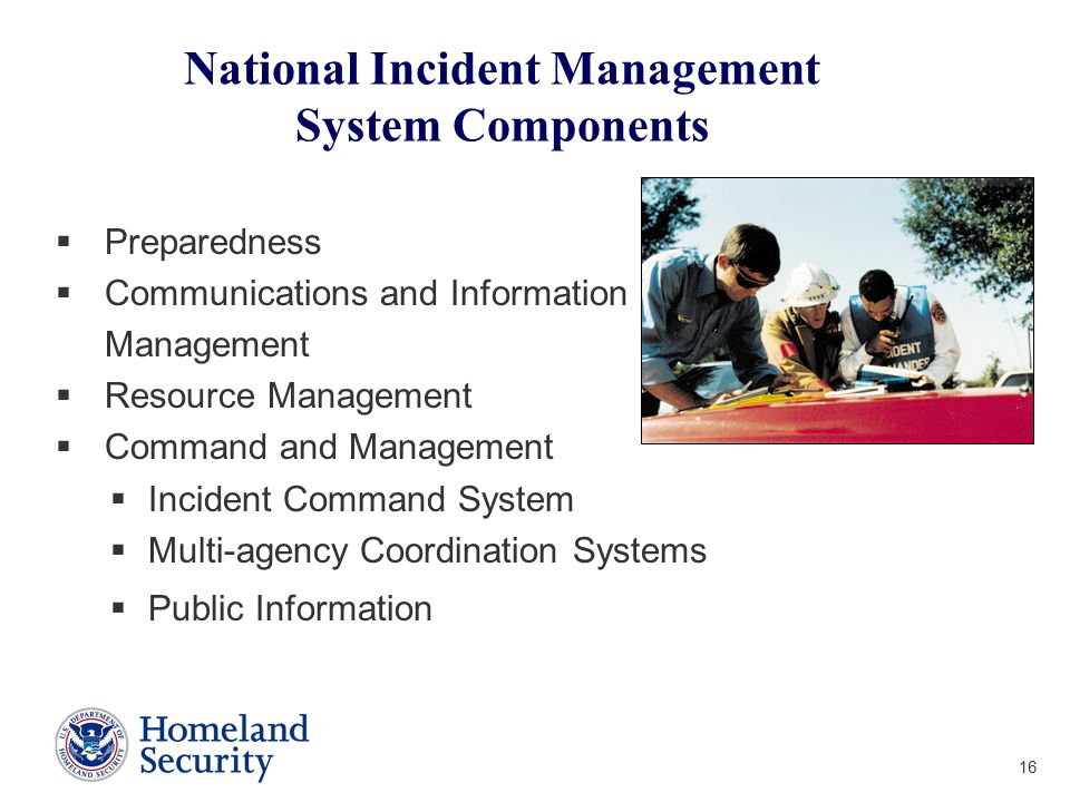 National Incident Management System Components