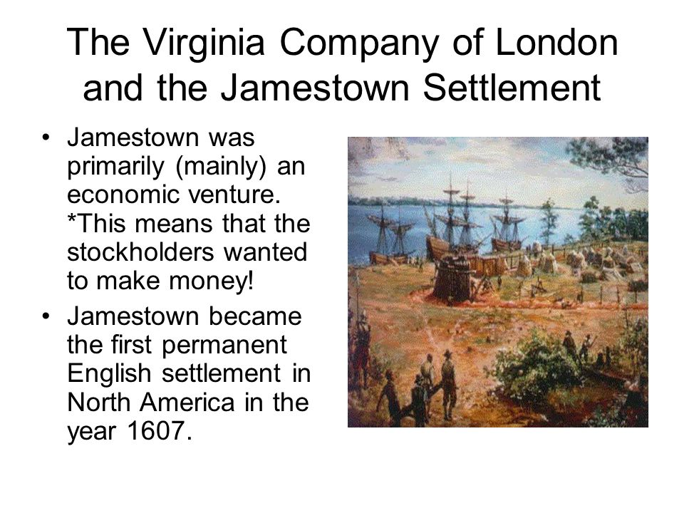 a narrative of the settlement of the virginia company in north america The virginia company of plymouth was granted rights to the northern part of virginia between 38º and 45º north latitude this group made a feeble attempt at a settlement on the kennebec river in what would later become maine , but the tiny colony lasted only a few months.