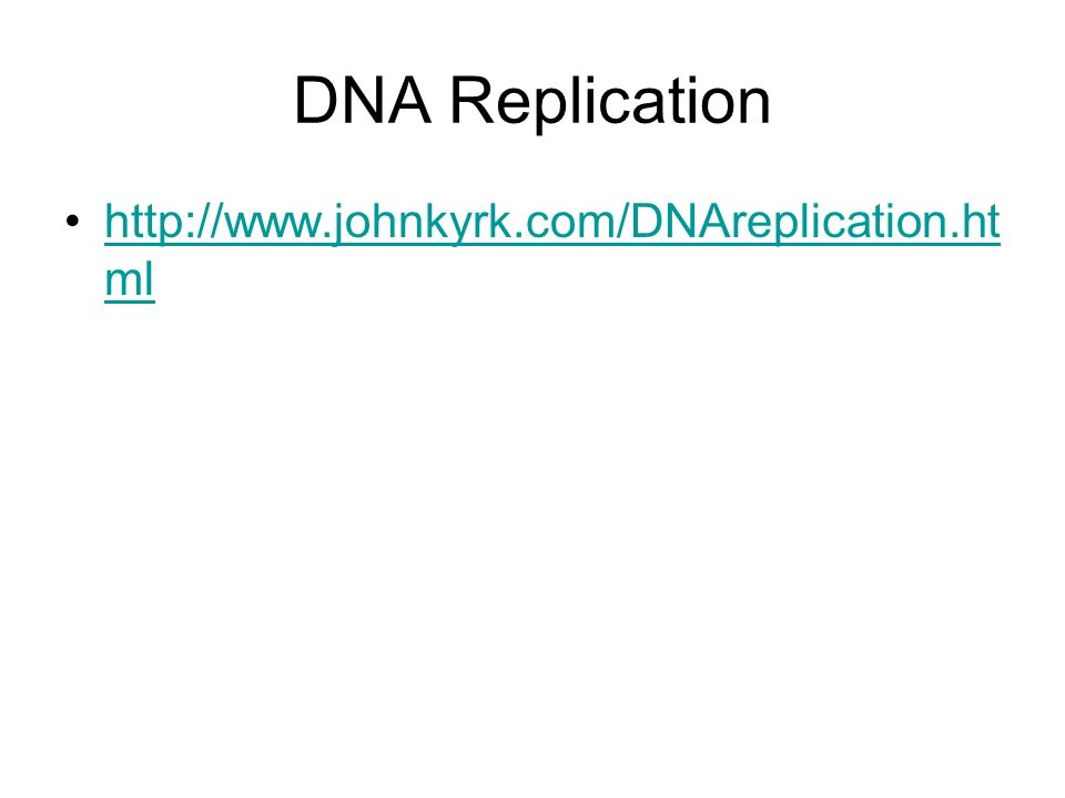 DNA Replication http://www.johnkyrk.com/DNAreplication.html