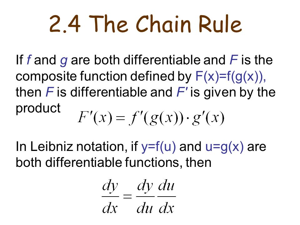 2.4 The Chain Rule