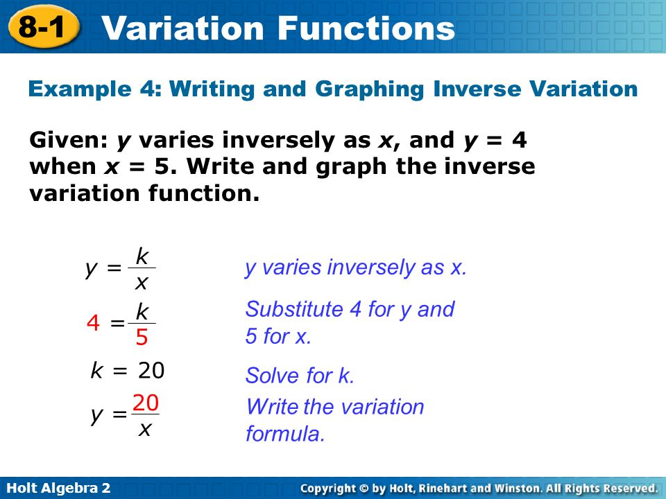 Vocabulary direct variation inverse variation - ppt video ...