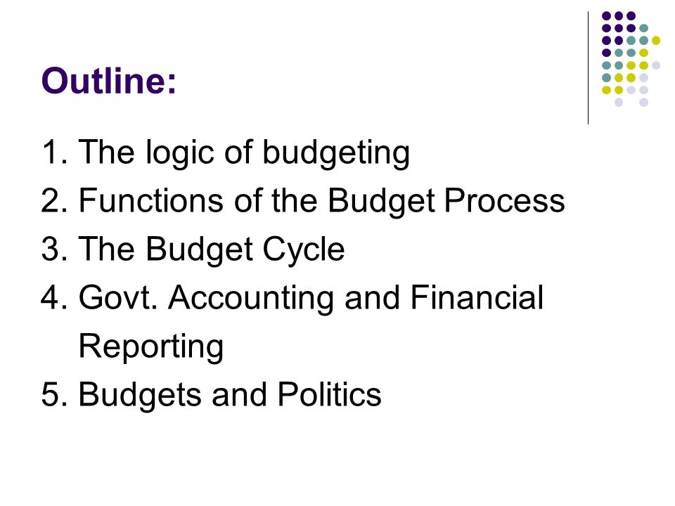 The Logic of the Budget Process - ppt video online download