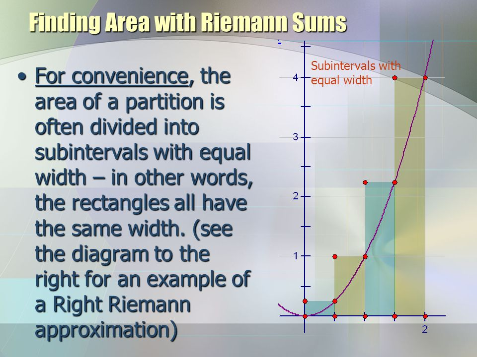 Finding Area with Riemann Sums