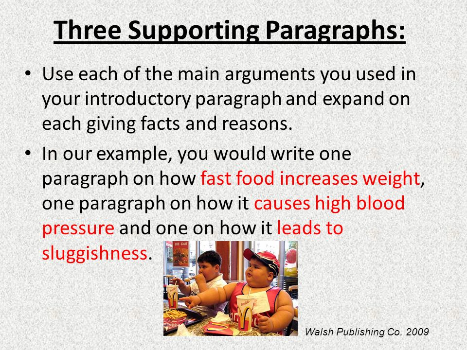 Three Supporting Paragraphs: