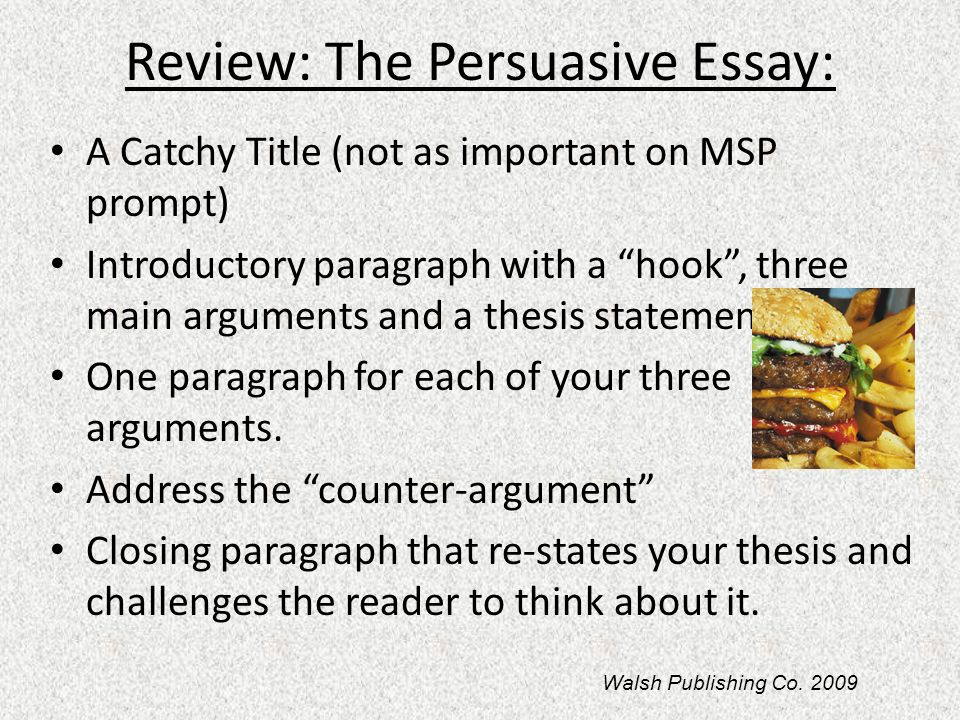 Review: The Persuasive Essay:
