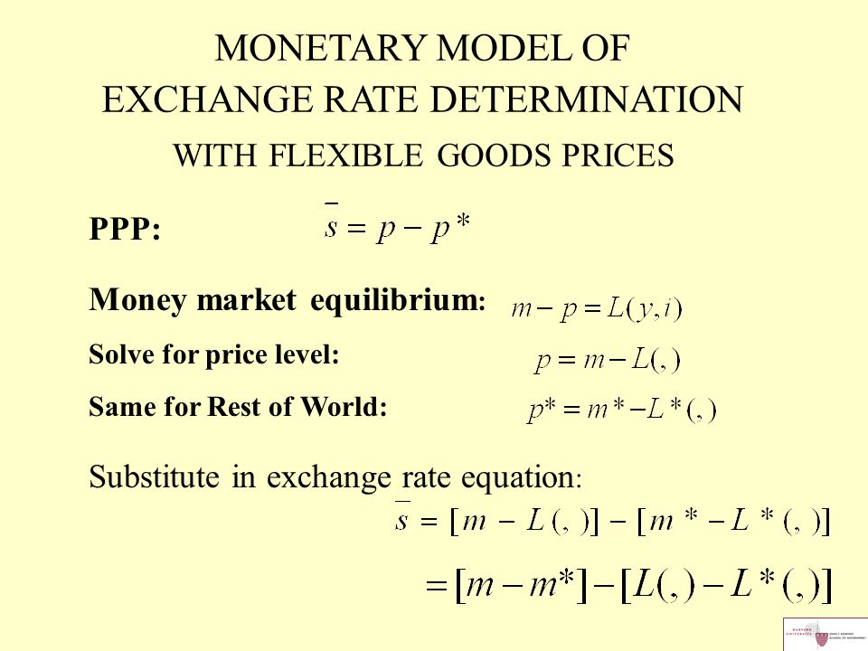 monetary model of exchange rate Forthcoming, journal of money, credit and banking order flow and the monetary model of exchange rates: evidence from a novel data set menzie d chinn university of wisconsin, madison.
