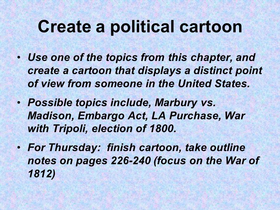 Create a political cartoon