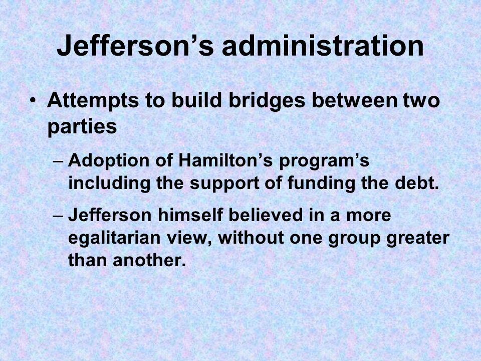 Jefferson's administration