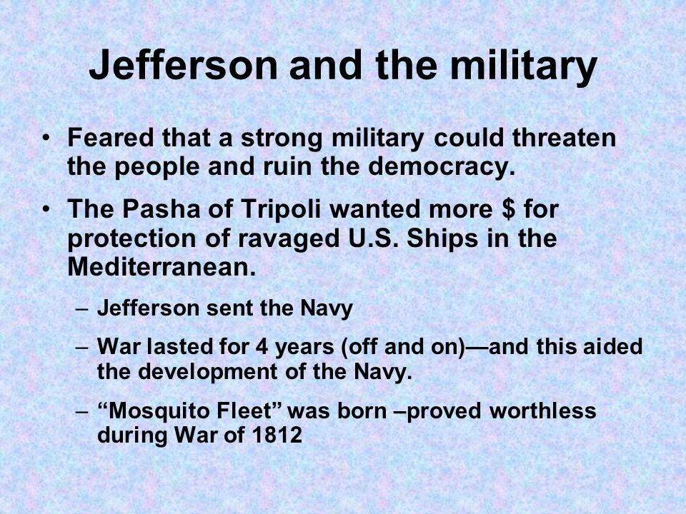 Jefferson and the military