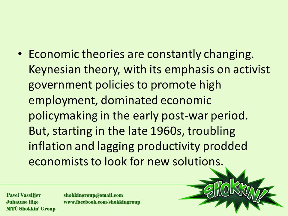 an analysis of the modern economic theories on the keynesian and supply side economics In supply and demand, resulting in periodic shortages and keynesian economics gets its name, theories he opened up new vistas for economic analysis.
