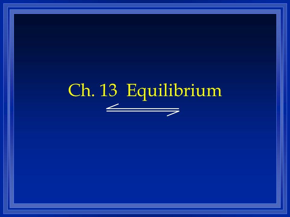 Ch. 13 Equilibrium