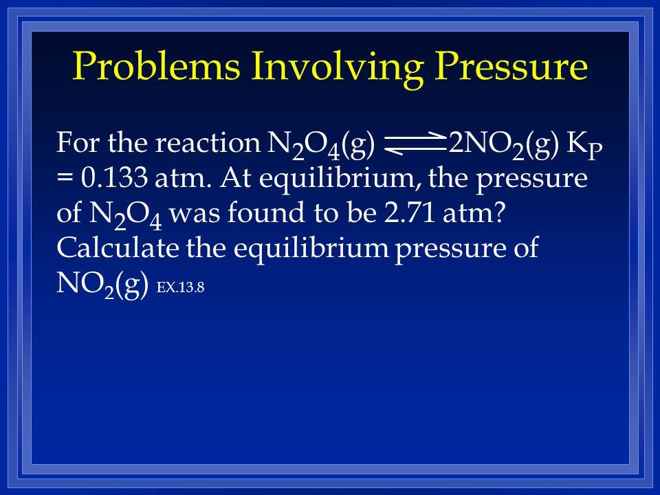 Problems Involving Pressure