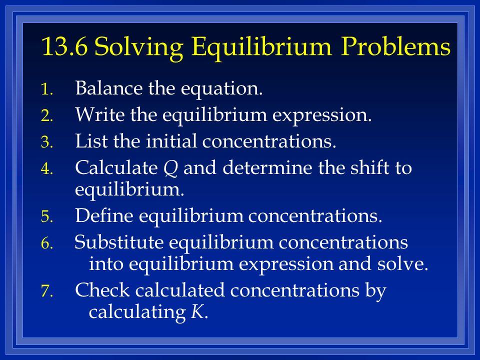 13.6 Solving Equilibrium Problems