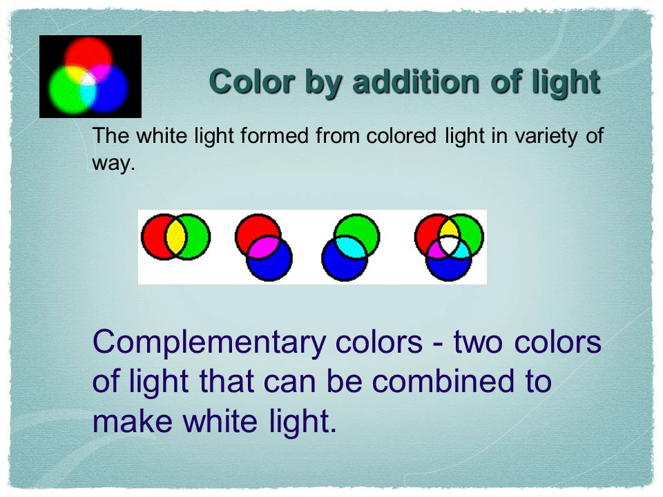 Color by addition of light