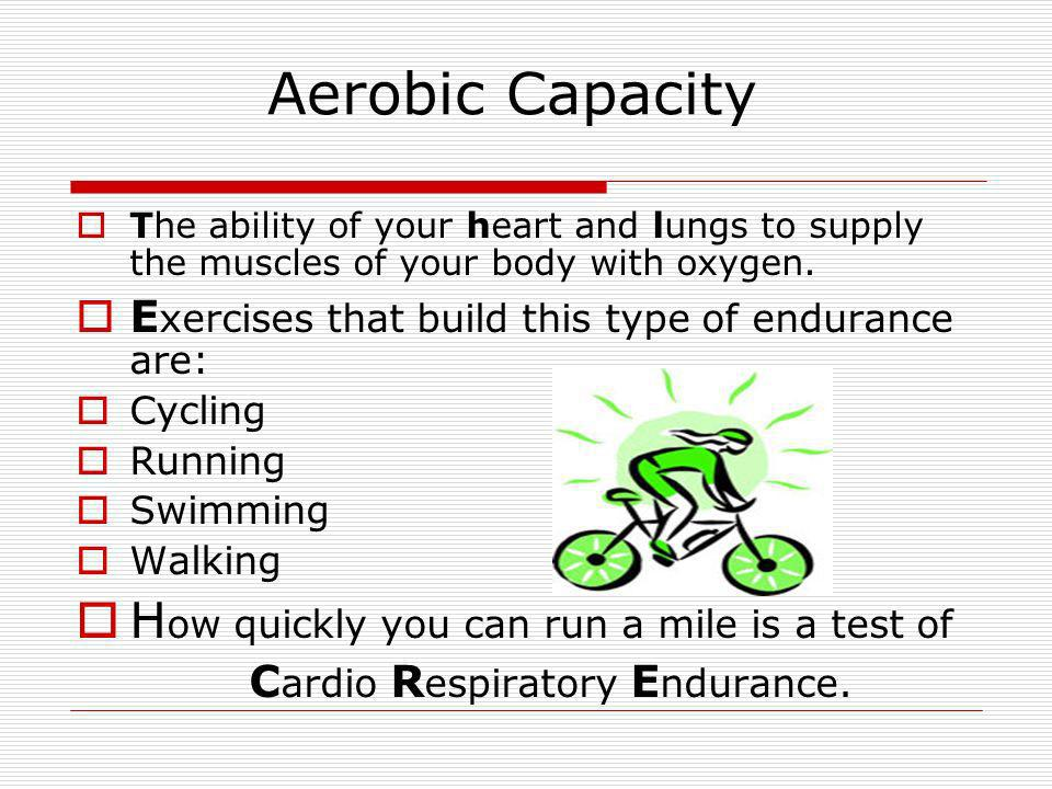 How quickly you can run a mile is a test of