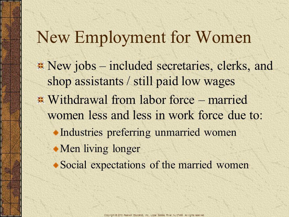 New Employment for Women