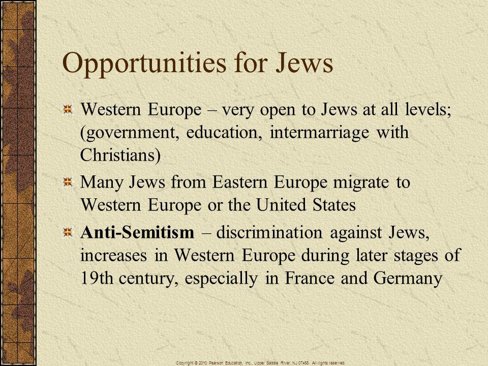 Opportunities for Jews