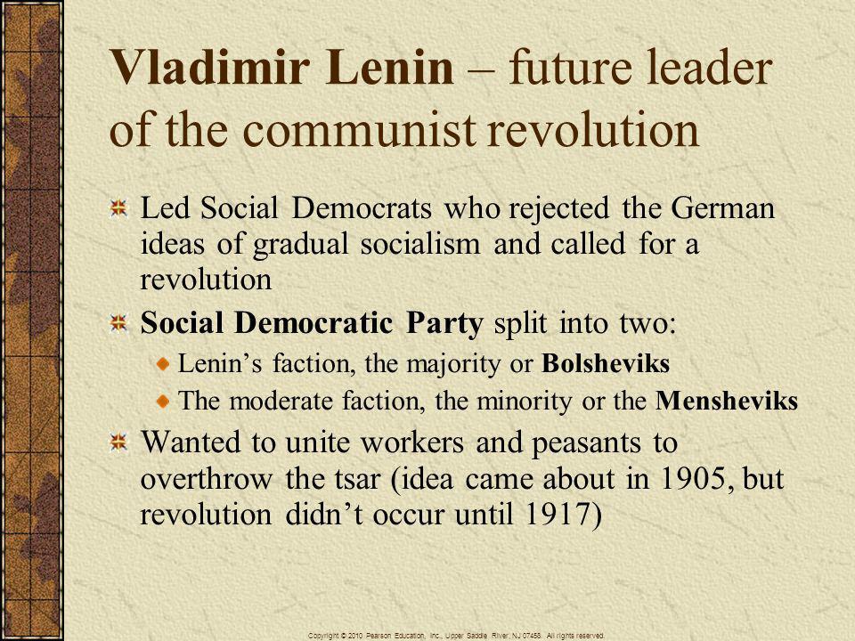 Vladimir Lenin – future leader of the communist revolution