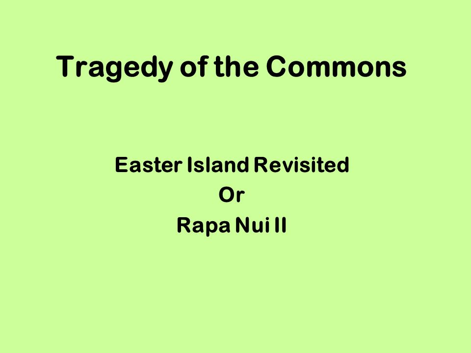 Easter Island Revisited Or Rapa Nui II