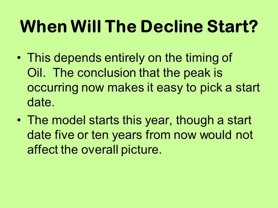 When Will The Decline Start